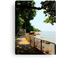 The Sea walk - Hong Kong. Canvas Print