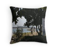 A surfing location.  Midge and Nat liked it there.  Throw Pillow
