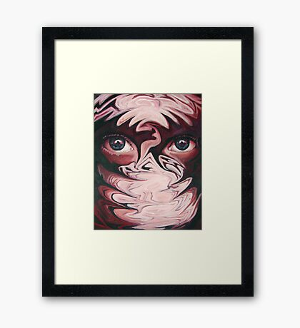 Drowning in eyes Framed Print