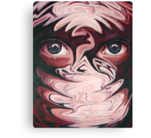 Drowning in eyes Canvas Print