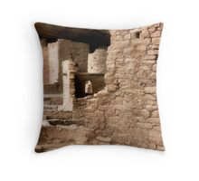 Cliff Ruins Throw Pillow