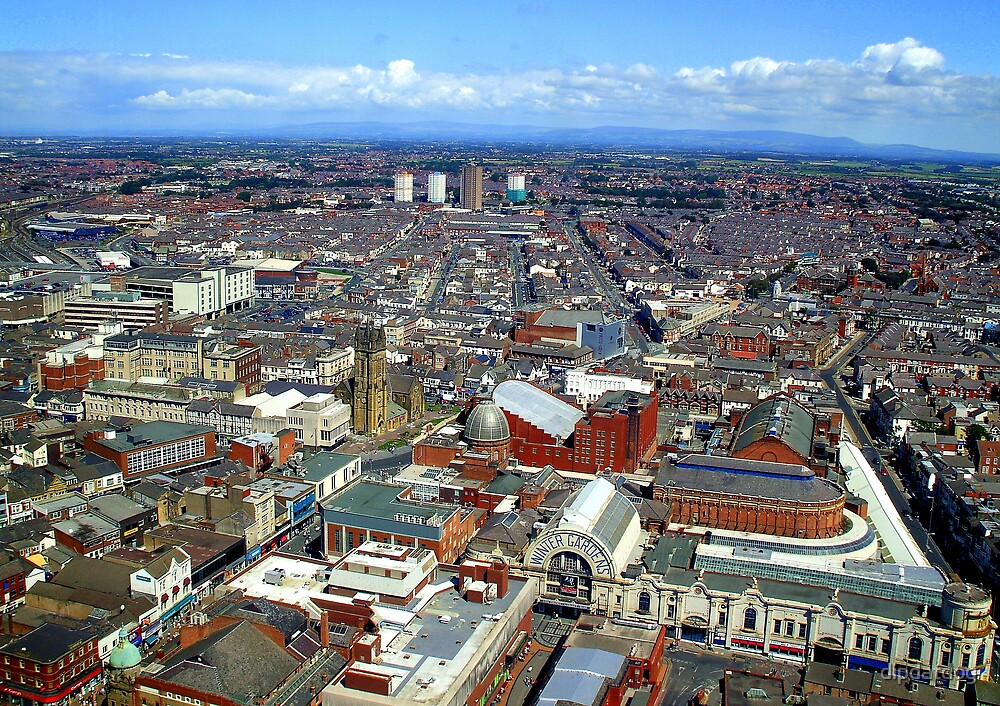 Arial View of Blackpool by dipdatdog