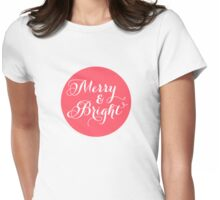 Merry and Bright, red dot Womens Fitted T-Shirt