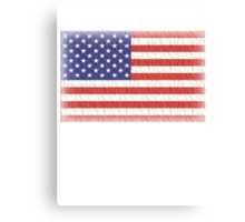 AMERICAN FLAG, FADED, USA, AMERICA, STARS & STRIPES, PURE & SIMPLE Canvas Print
