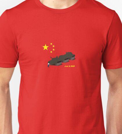 Tank Man (Unknown Rebel) - China, Tiananmen Square protest  Unisex T-Shirt