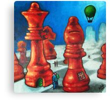 The Chess People Canvas Print