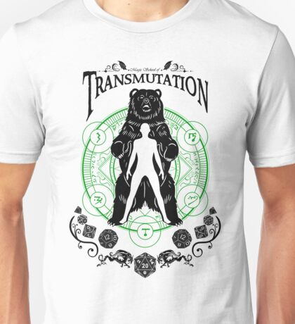 Transmutation- D&D Magic School Series : Black Unisex T-Shirt