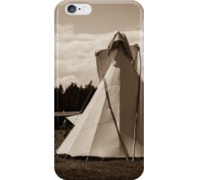 Girl and Tipi  iPhone Case/Skin