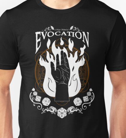 Evocation - D&D Magic School Series : White Unisex T-Shirt