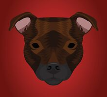 Staffordshire Bull Terrier by threeblackdots