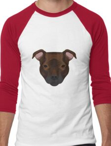Staffordshire Bull Terrier Men's Baseball ¾ T-Shirt