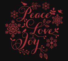 Peace, Love, Joy, Merry Christmas  Kids Clothes