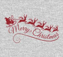Merry Christmas, Santa Claus with his sleigh Kids Clothes