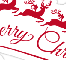 Merry Christmas, Santa Claus with his sleigh Sticker