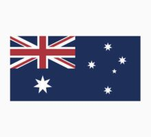 Australian Flag, Flag of Australia, Pure & simple, Aussies by TOM HILL - Designer