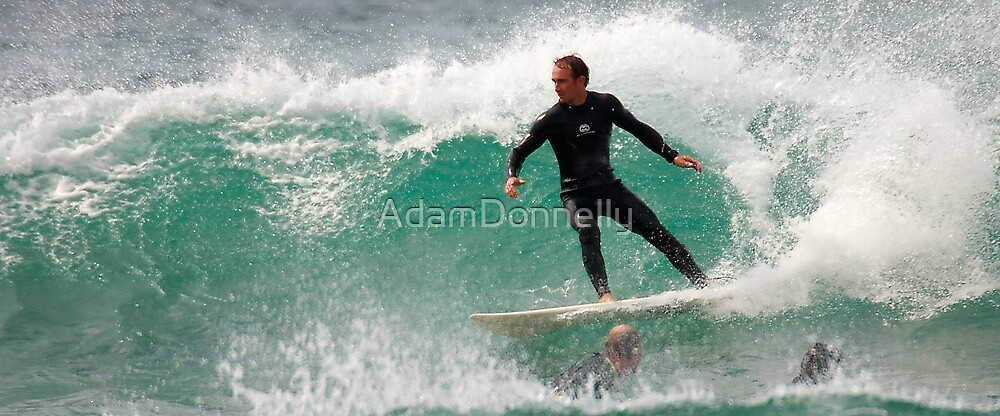 Surfing Dicky Beach by AdamDonnelly
