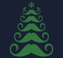 Mustache Christmas tree design One Piece - Long Sleeve