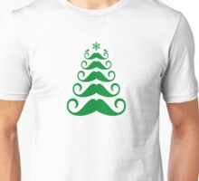 Mustache Christmas tree design Unisex T-Shirt