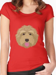 Golden Labradoodle  Women's Fitted Scoop T-Shirt