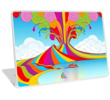 Naples and Vesuvio Rainbow Eruption Laptop Skin