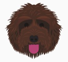 Brown Labradoodle One Piece - Short Sleeve