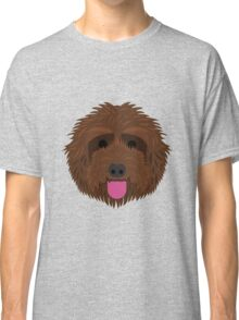 Brown Labradoodle Classic T-Shirt