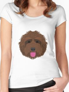 Brown Labradoodle Women's Fitted Scoop T-Shirt