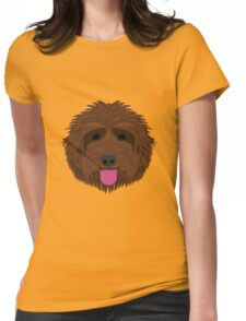 Brown Labradoodle Womens Fitted T-Shirt
