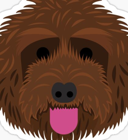 Brown Labradoodle Sticker