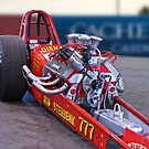 Vintage 'High Compression' Flat Head Dragster by DaveKoontz