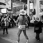 Naked Cowboy Times Square NYC by Edward Fielding