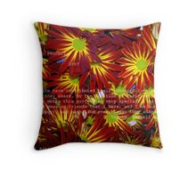 FLOWER POWER PROJECT 2007 Throw Pillow