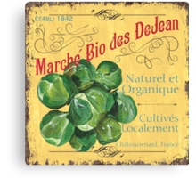 French Market Sign 1 Canvas Print