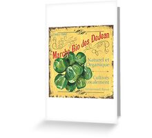French Market Sign 1 Greeting Card