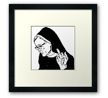 Sister Jude Middle Finger Framed Print