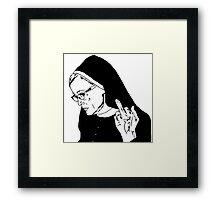 Sister Jude Middle Finger Framed Print