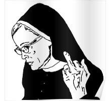 Sister Jude Middle Finger Poster