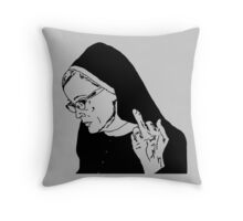 Sister Jude Middle Finger Throw Pillow