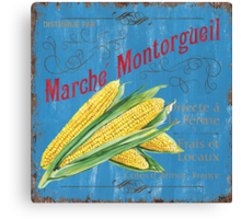 French Market Sign 2 Canvas Print