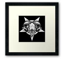 Pentangle - Pentagram / Goat Framed Print