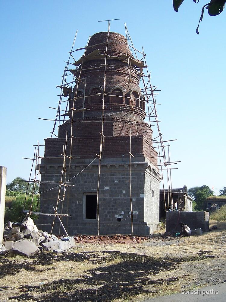 Temple under construction by suresh pethe