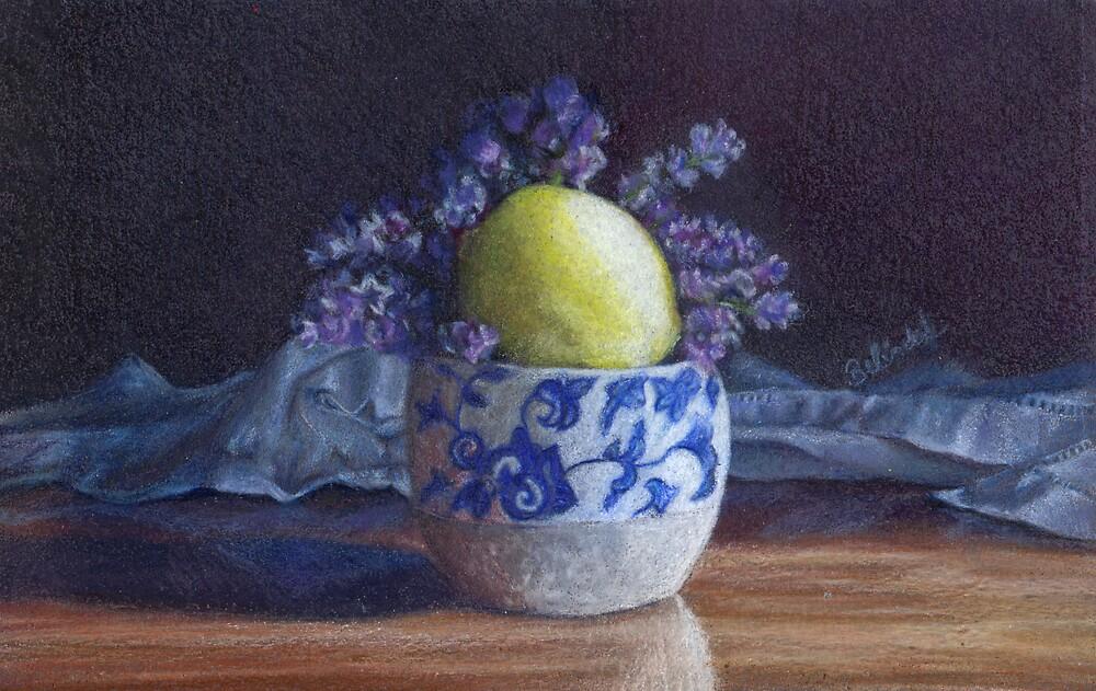 Pot with lavender and lemon by Belinda Lindhardt