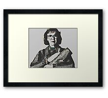 Twin Peaks Log Lady Framed Print