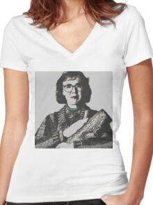 Twin Peaks Log Lady Women's Fitted V-Neck T-Shirt