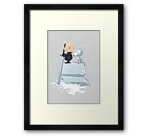 WINTER PEANUTS Framed Print