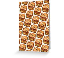 Turkey Club On White Pattern Greeting Card