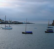Sunrise over the Solent by Sharon Perrett