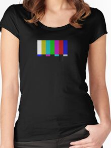 PAL TV Test Pattern  Women's Fitted Scoop T-Shirt