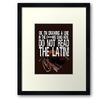 The wisdom of Marty Framed Print