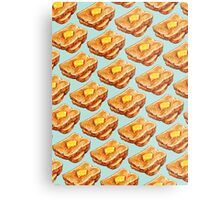 Buttered Toast Pattern Metal Print